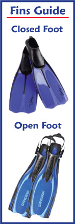 Closed vs Open Foot Fins
