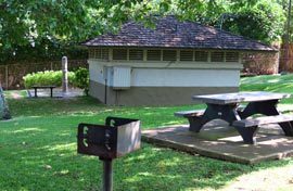 Picnic table, barbecue, showers, and restrooms for your use at Wailea Beach