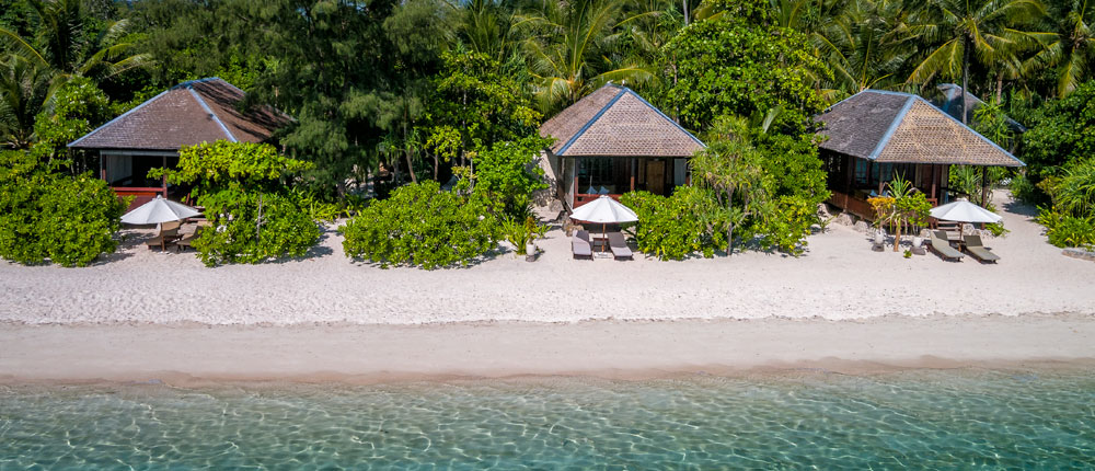 Your Ocean Bungalow is steps from the water.