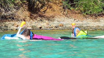 Easybreath Snorkeling Mask On Snorkelers<br>(Picture by Galen & Nicole)