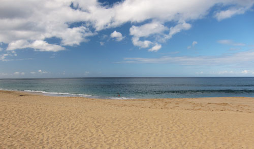 Water Entrance For Snorkeling Makaha Beach