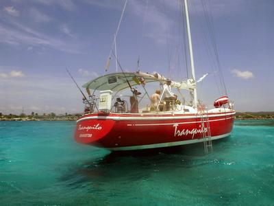 Tranquilo anchored in Spanish Lagoon